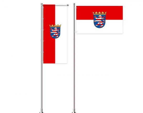 Hessen - Flagge, Fahne , Hissflagge in vielen Größen und Befestigungen (Premiumqualität)
