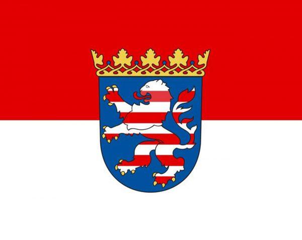 Hessen mit Wappen - Flagge, Fahne , Hissflagge in vielen Größen und Befestigungen