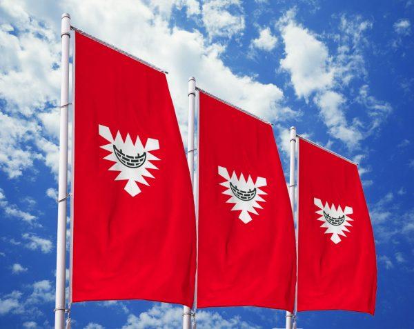 Kiel - Flagge, Fahne , Hissflagge in vielen Größen und Befestigungen (Premiumqualität)