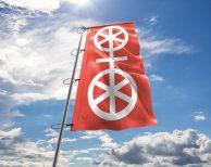 Mainz - Flagge, Fahne , Hissflagge in vielen Größen und Befestigungen (Premiumqualität)