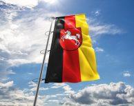 Niedersachsen - Flagge, Fahne , Hissflagge in vielen Größen und Befestigungen (Premiumqualität)