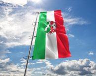Nordrhein-Westfalen - Flagge, Fahne , Hissflagge in vielen Größen und Befestigungen (Premiumqualität)