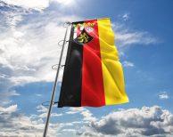 Rheinland-Pfalz - Flagge, Fahne , Hissflagge in vielen Größen und Befestigungen (Premiumqualität)