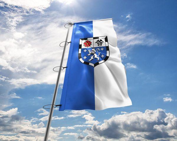 Saarbrücken - Flagge, Fahne , Hissflagge in vielen Größen und Befestigungen (Premiumqualität)