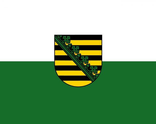 Sachsen - Flagge, Fahne , Hissflagge in vielen Größen und Befestigungen (Premiumqualität)