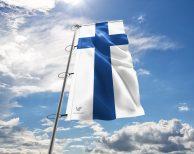 Finnland / Finnische / Finland Fahne, Hissflagge in vielen Größen und Befestigungen (Premiumqualität)