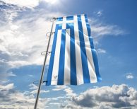 Griechenland / Griechische / Greece Fahne, Hissflagge in vielen Größen und Befestigungen (Premiumqualität)