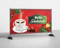 Heiße Schokolade - PVC Plane für Bauzäune