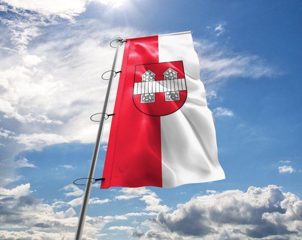 Innsbruck Fahne mit Wappen in vielen Größen und Befestigungen (Premiumqualität)