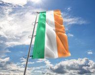 Irland / Irische / Ireland Fahne, Hissflagge - in vielen Größen und Befestigungen (Handmade - Premiumqualität)