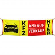 KFZ Ankauf & Verkauf HIER - Werbebanner - PVC Planen Werbeplane