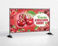 Kirschen / Cherry Bauzaunbanner - banner - plane