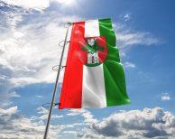 Klagenfurt am Wörthersee Fahne mit Wappen in vielen Größen und Befestigungen (Premiumqualität)