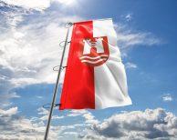 Linz Fahne mit Wappen in vielen Größen und Befestigungen (Premiumqualität)