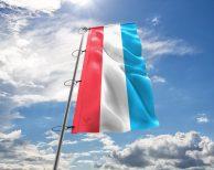 Luxemburg / Luxemburgische Fahne, Hissflagge - in vielen Größen und Befestigungen (Handmade - Premiumqualität)