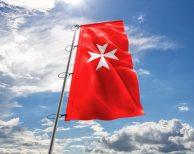 Malta / Malteser / Malteserkreuz / Johanniter-Kreuz Fahne in vielen Größen und Befestigungen (Premiumqualität)