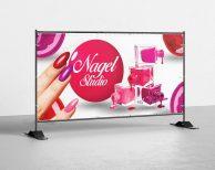 Nagel Studio - PVC Plane für Bauzäune / Banner