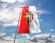 Oberösterreich Fahne mit Wappen in vielen Größen und Befestigungen (Premiumqualität)