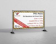 PVC Plane für Bauzäune mit Ihrem Motiv