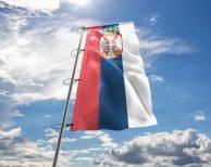 Serbien / Serbische / Serbia Fahne - in vielen Größen und Befestigungen (Premiumqualität)
