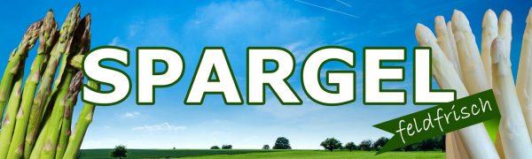 Spargel feldfrisch - Werbebanner - Werbeplane - Banner