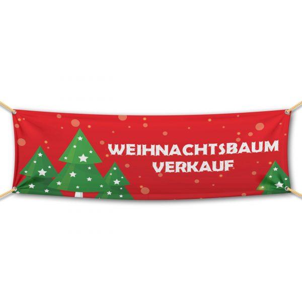 Weihnachtsbaum Verkauf - Werbebanner - PVC Planen Werbeplane