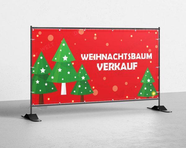 Weihnachtsbaum Verkauf - PVC Plane für Bauzäune