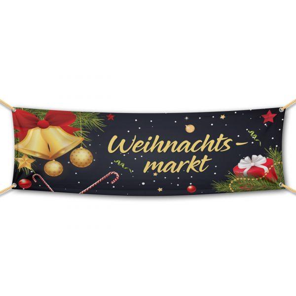 Weihnachtsmarkt - Werbebanner - PVC Planen Werbeplane