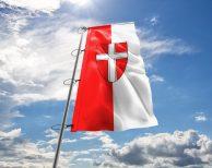 Wien Fahne mit Wappen in vielen Größen und Befestigungen (Premiumqualität)