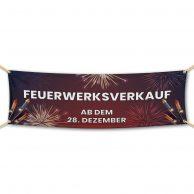 Feuerwerksverkauf ab dem 28. Dezember- Werbebanner - PVC Planen Werbeplane