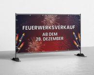 Feuerwerksverkauf ab dem 28. Dezember - PVC Plane für Bauzäune / Banner