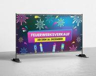 Feuerwerksverkauf ab dem 28. Dezember v3 - PVC Plane für Bauzäune / Banner