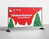 Weihnachtsbäume hier erhältlich! - PVC Plane für Bauzäune