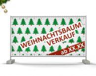Weihnachtsbaum Verkauf mit Datum - PVC Plane für Bauzäune / Banner