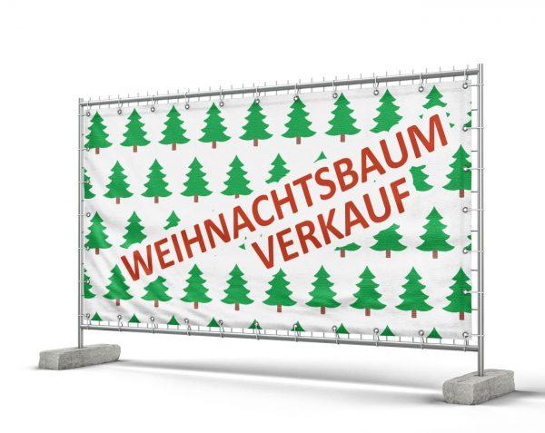 Weihnachtsbaum Verkauf - PVC Plane für Bauzäune / Banner