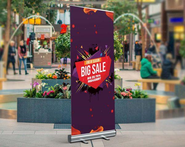 BIG SALE - Roll-Up - Werbebanner Werbeplane PVC