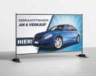 Gebrauchtwagen An Und Verkauf - PVC Plane für Bauzäune / Banner