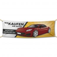 Wir kaufen Ihr Auto - Werbebanner - PVC Planen Werbeplane