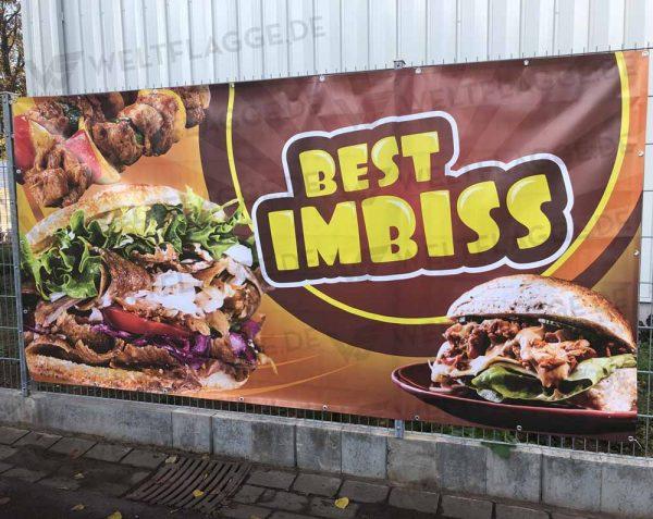 Best Imbiss Bauzaunbanner - Werbebanner - Werbeplane
