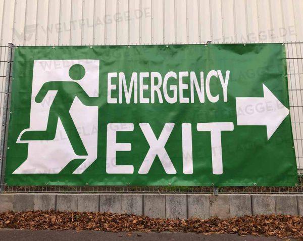 Emergency Exit - Festivalbanner - Bauzaunbanner - Werbebanner - Werbeplane
