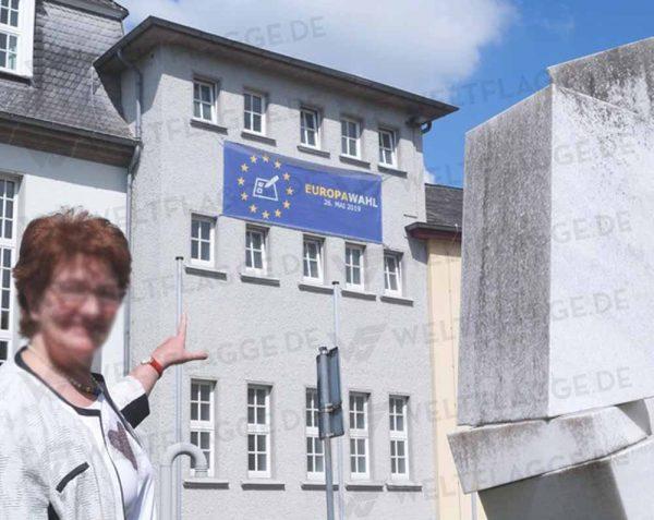 Europawahl Bauzaunbanner - Werbebanner - Werbeplane