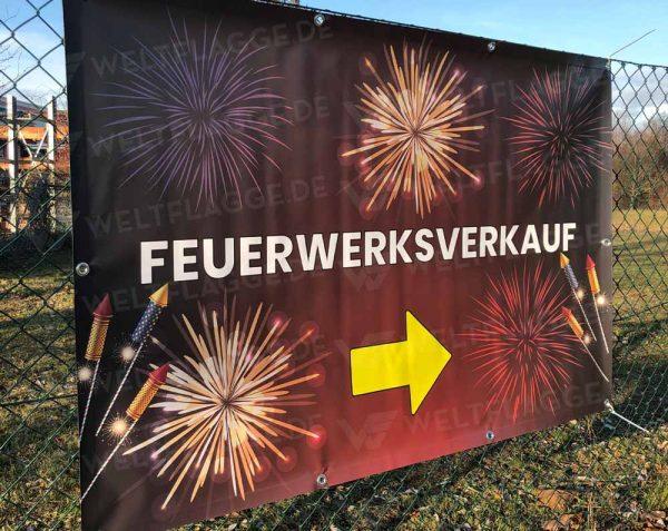 Feuerwerksverkauf Bauzaunbanner - Werbebanner - Werbeplane
