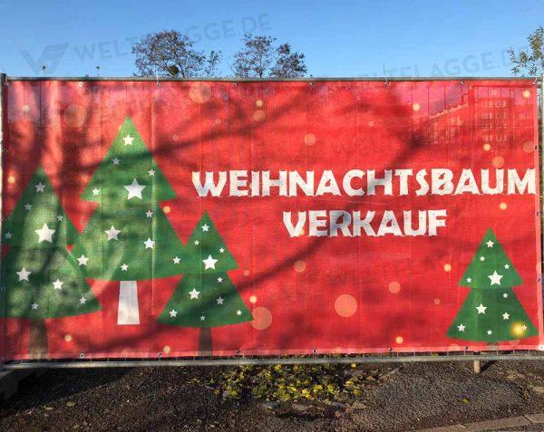 Weihnachtsbaumverkauf Bauzaunbanner - MESH - Werbebanner - Werbeplane