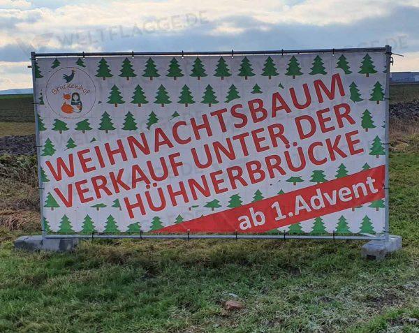 Weihnachtsbaumverkauf Bauzaunbanner - Werbebanner - Werbeplane