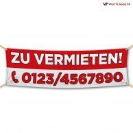 ZU VERMIETEN! - Werbebanner - PVC Planen Werbeplane