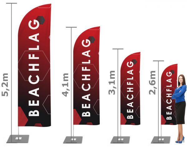 Haiflossenform - Beachflag / Strandfahne / Werbefahne