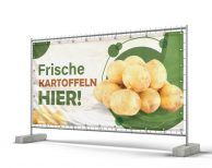 Frische Kartoffeln HIER! Bauzaunbanner - Werbeplane - Banner