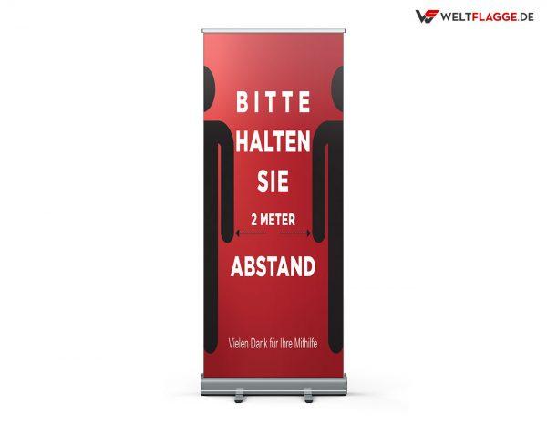 Abstandhalten Roll-Up Banner - Werbebanner