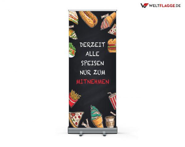 Alle Speisen nur zum Mitnehmen Roll-Up Banner - Werbebanner