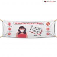 Hygiene Hinweise - Gegen Corona - Werbebanner - PVC Planen Werbeplane